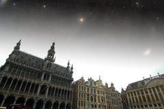 布鲁塞尔夜 免版税库存照片