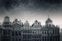 布鲁塞尔夜 库存图片