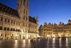 布鲁塞尔大厅大广场城镇 库存图片
