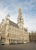 布鲁塞尔大厅大广场城镇 免版税库存图片