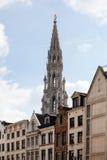 布鲁塞尔大厦在塔的市政厅 免版税库存照片