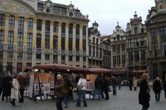 布鲁塞尔大广场在布鲁塞尔,比利时 图库摄影