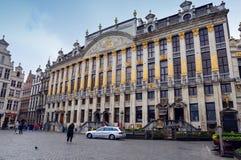 布鲁塞尔大广场,比利时的地标布鲁塞尔市中心广场位于 免版税库存照片