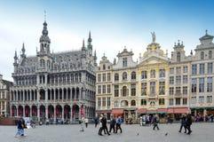 布鲁塞尔大广场,比利时的地标布鲁塞尔市中心广场位于 库存图片