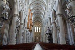 布鲁塞尔大教堂哥特式迈克尔圣徒 库存照片