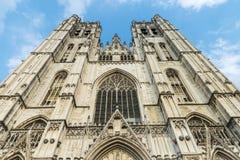布鲁塞尔大教堂在布鲁塞尔,比利时 免版税库存图片