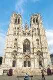布鲁塞尔大教堂在布鲁塞尔,比利时 库存照片