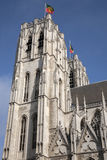 布鲁塞尔大教堂教会,比利时 免版税库存图片