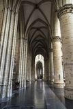 布鲁塞尔大教堂的内部在布鲁塞尔,比利时 库存照片
