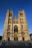 布鲁塞尔大教堂gudula迈克尔st 免版税库存照片