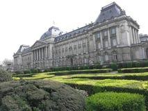 布鲁塞尔宫殿和toyal庭院 免版税图库摄影