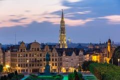 布鲁塞尔市中心,比利时看法  免版税库存照片