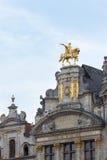 布鲁塞尔市中心细节 免版税库存图片