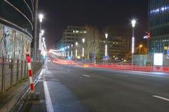 布鲁塞尔晚上 免版税库存图片