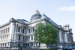 布鲁塞尔正义宫殿、西部和南前面 免版税库存图片
