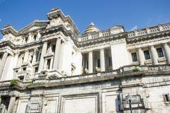 布鲁塞尔正义宫殿,一部分的东部前面 库存图片