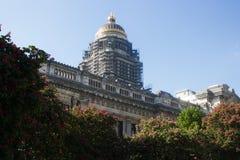 布鲁塞尔正义宫殿,东部前面 图库摄影
