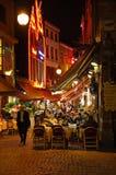 布鲁塞尔正餐餐馆 免版税库存照片