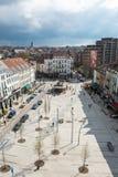 布鲁塞尔比利时地方茹尔当- Jourdanplein 免版税库存照片