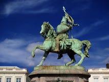布鲁塞尔烈士中世纪雕象 免版税图库摄影