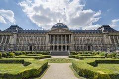 布鲁塞尔王宫在比利时 免版税库存照片