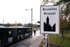 布鲁塞尔的城市标志 库存照片
