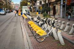 布鲁塞尔自行车租务 免版税库存照片