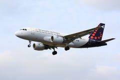 布鲁塞尔航空公司空中客车A320 库存图片