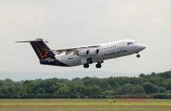 布鲁塞尔航空公司Avro 146个RJ100 免版税库存照片