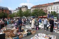 布鲁塞尔跳蚤市场 库存图片