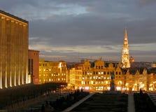 布鲁塞尔都市风景 免版税库存照片