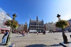 布鲁塞尔,一个重要旅游目的地,多数难忘的地标布鲁塞尔大广场在布鲁塞尔 图库摄影