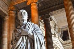 布鲁塞尔,正义宫殿,前庭,西塞罗 免版税库存图片