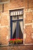 布鲁塞尔,比利时人- 2014年9月19日:在窗口的美丽的景色 库存图片