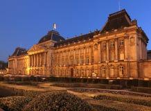布鲁塞尔,比利时王宫。 图库摄影