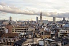 布鲁塞尔,比利时都市风景  免版税库存照片