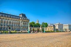 布鲁塞尔,比利时,比荷卢三国, HDR王宫  库存图片