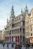 布鲁塞尔,比利时, -布鲁塞尔大广场, 2014年2月17日:Gr的照片 免版税图库摄影