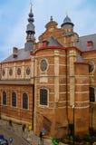 布鲁塞尔,比利时, 2018年5月, 31日:贝尔塞尔城堡是一座老12世纪城堡,位于贝尔塞尔比利时镇  库存图片