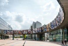 布鲁塞尔,比利时- 2016年6月16日:大厦的外部  库存图片