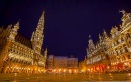 布鲁塞尔,比利时- 2015年8月11日, :布鲁塞尔大广场 免版税库存照片