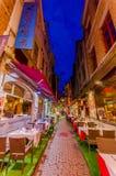 布鲁塞尔,比利时- 2015年8月11日, :著名街道 库存图片