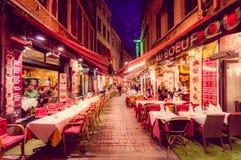 布鲁塞尔,比利时- 2015年8月11日, :著名街道 库存照片
