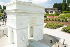 布鲁塞尔,比利时- 2016年5月13日:在公园迷你欧洲-纪念碑的再生产的缩样在欧盟的在标度 免版税图库摄影