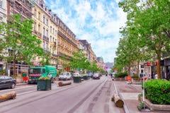 布鲁塞尔,比利时- 2016年7月07日:城市观看舒适欧洲人cit 免版税库存照片
