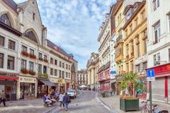 布鲁塞尔,比利时- 2016年7月07日:城市观看舒适欧洲citi 库存照片