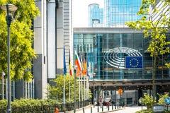 布鲁塞尔,比利时- 2016年6月16日:大厦的外部  免版税库存照片
