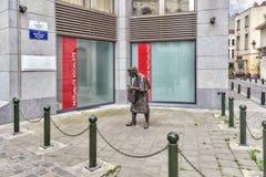 布鲁塞尔,比利时- 2016年7月07日:纪念碑Hat女士或疯狂 库存照片