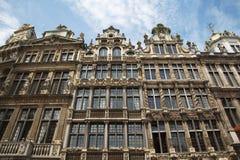布鲁塞尔-从大广场的宫殿。 Grote Markt。 库存照片