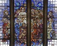 布鲁塞尔-基督最后的晚餐-大教堂 库存照片
